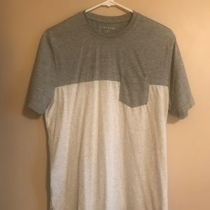 Five four T-shirt.  Gray and light gray